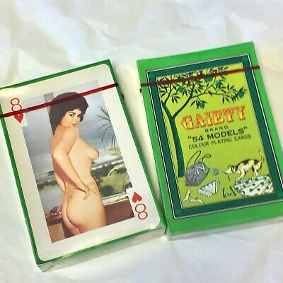 """Gaiety """"54 Models"""" Playing Cards Vintage Unopened No. 421 960's Pin-Up"""