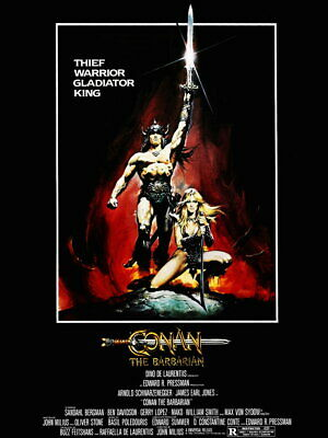 V8460 Conan the Barbarian Movie Arnold Schwarzenegger Retro Wall Print POSTER UK