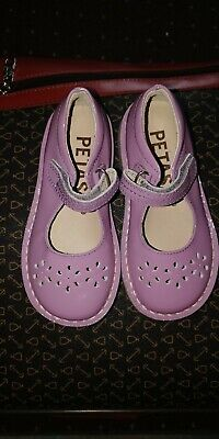 Petasil Cecily Girls Patent Shoes T- Bar in Lilac 25 (UK 7) New Without Box