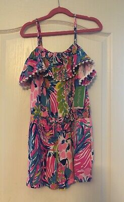 c762ae35760968 GIRL'S LILLY PULITZER X Lg (12-14) Little Leonie Romper - $27.00 ...