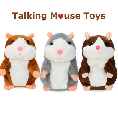 Cute Adorable Funny Speak Talking Record Hamster Mouse Plush Kids Pet Toys Gift