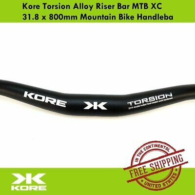 Kore Torsion Alloy Riser Bar MTB XC 31.8 x 800mm Mountain Bike Handlebar Black