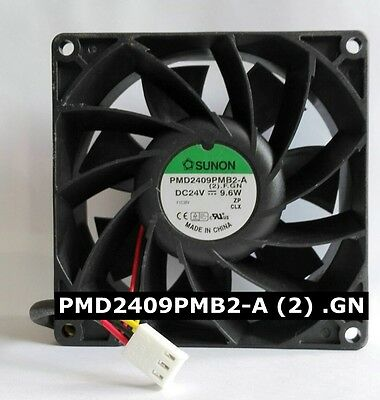 SUNON PMD2409PMB2-A (2) .GN Inverter cooling fan DC24V 9.6W 92*92*38MM 3wire
