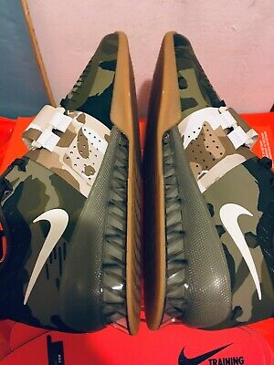 f157498b9a1a0 Nike Romaleos 3 Weightlifting Shoes Olive Canvas Camo 852933-300 Men's Size  12