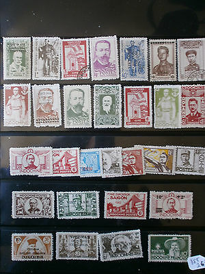 Lot 35 Timbres Indochine  Stamp Colonie Francaise  Indochina
