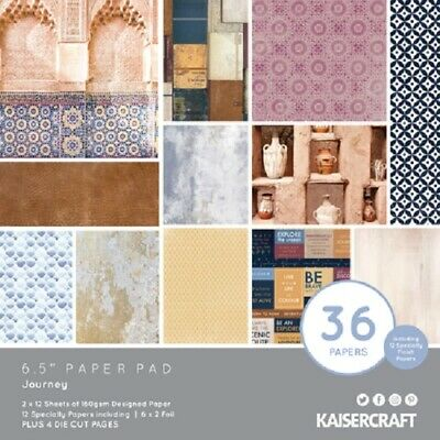 "Kaisercraft 'JOURNEY' 6.5"" Paper Pad Holiday/Travel/Vacation KAISER PP1070"