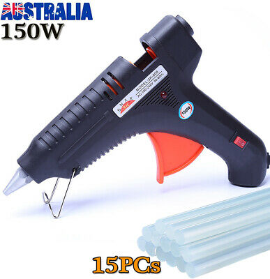 150W Glue Gun Electric Heating Hot Melt  + 15 Glue Sticks Kit Craft Adhesive OZ