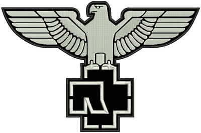 """12"""" 30cm RAMMSTEIN eagle embroidered patch"""