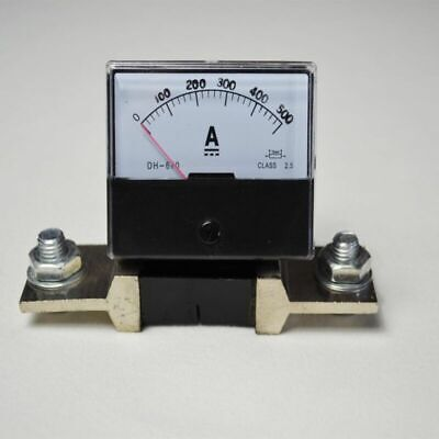 0-500A DC 500A New Current Outlet Factory Ammeter Panel + Meter Shunt-Analog Amp