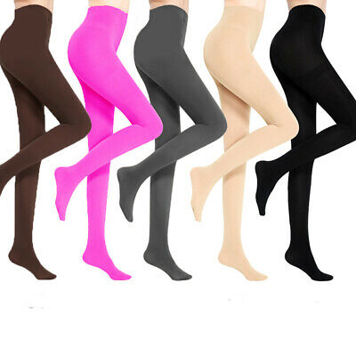 37553afe415 Women 120D Stockings Pantyhose Tights Opaque Footed Socks Winter Warm Thick  US