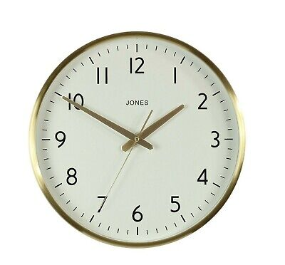 Large Metal Wall Clock - Jones Clocks the Supermoon - 38cm Easy to Read Dial