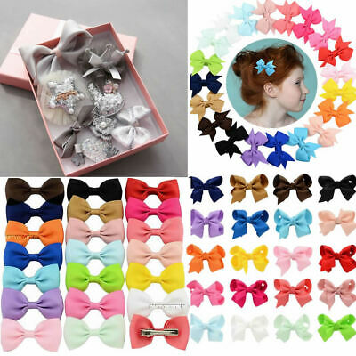 10/20/40PCS Bow Hair Clip Set Alligator Clips Girls Kids Sides Hair Accessories
