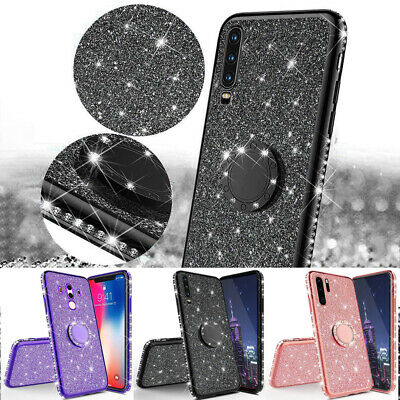 Slim Thin Soft Bling Glitter Diamond Stand Case Cover For Huawei P30 Pro Mate 20