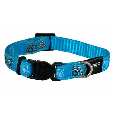 Rogz Dog Collar Armed Response For Large Dogs Turquoise Paws Tough Durable
