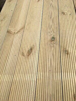 Pack of 10, 3m Decking Boards - Wooden/Timber - 120mm X 28mm - High Quality