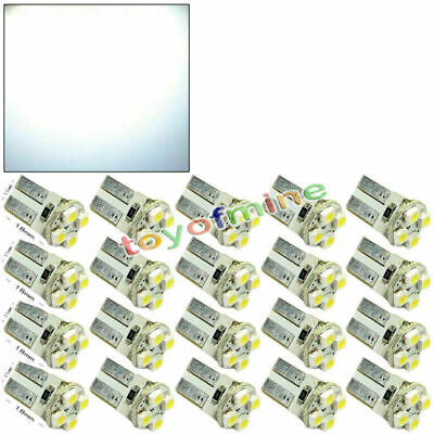 20x T10 194 W5W 4 LED Pure White Car Wedge SMD SMT HID Bulb Light Lamp 12V New