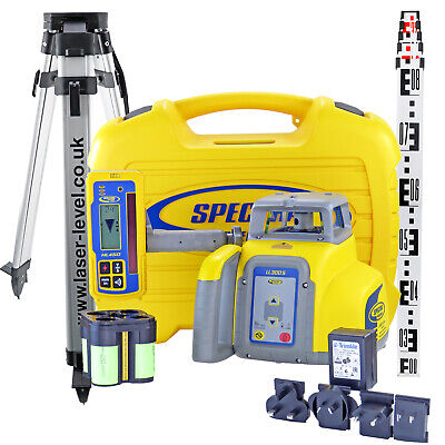 Rotary Laser Level Kit: Spectra Precision LL300S + HL450 Detector Tripod & Staff