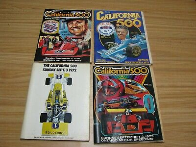 Vintage Lot Of 4 California 500 Programs (1972, 1973, 1976 & 1977)