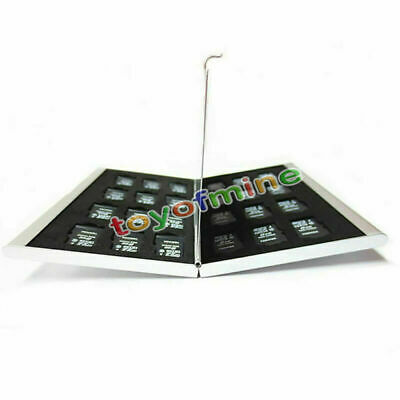 New Aluminum 24 Micro SD TF Memory Card Storage Carrying Case Holder Protector