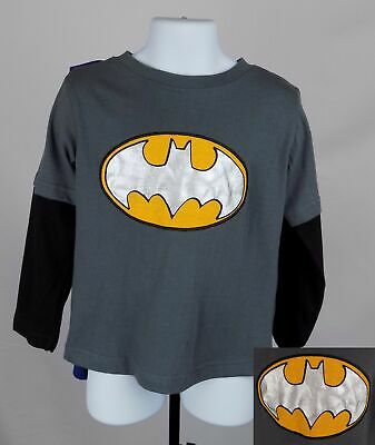 Batman Shirt Boy's 3T Double Sided Graphic Shirt With Cape DC Comics New ST127