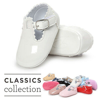Newborn Girl Boys Baby Soft Sole Crib Shoes Toddler Sneakers Leather Shoes