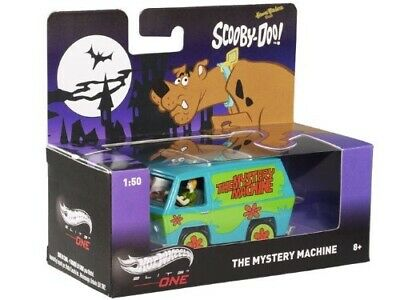 """Hot Wheels Elite-One 1/50 """"Scooby-Doo"""" The Mystery Machine With Fred & Shaggy"""