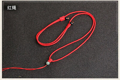 Natural feicui jade bead handwoven Circle string cord rope for pendant Necklace