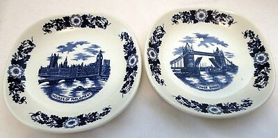 Two London Pride JH Weatherby Houses of Parliament/Tower Bridge Trinket Dishes