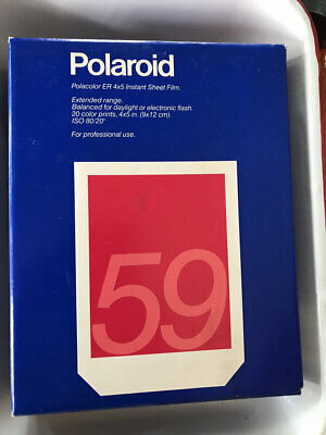 Polaroid 59 Polacolor ER instant film Camera, expired old outdated 28 total