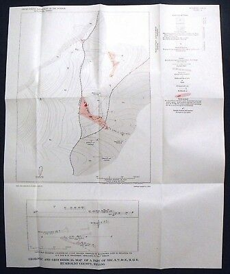 USGS GOLD EXPLORATION GETCHELL MINE NEVADA SCARCE Vintage 1964 With MAPS