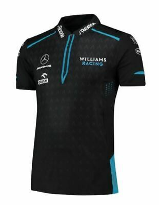 NEW 2019 Williams F1 Racing RoKit Team Performance POLO Shirt BLACK - OFFICIAL