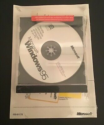 Microsoft Windows 95 Sistema Operativo CD + manuale SIGILLATO
