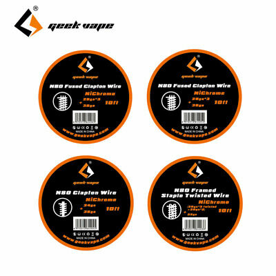 10ft (3m) GeekVape N80 Nichrom , Clapton / Framed Staple Twisted Resistance Wire