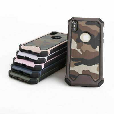 Shockproof Camo Camouflage Heavy Duty Protection Case For iPhone XS Max XR 6 7 8