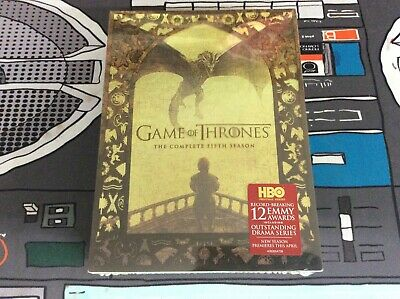 Game of Thrones: The Complete Fifth Season (DVD, 2016, 5-Disc Set) New Sealed!