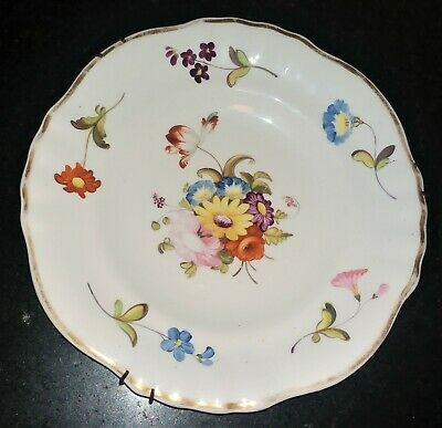 Finely Potted, Swansea Translucent Hand Painted Floral Porcelain Plate C 1800