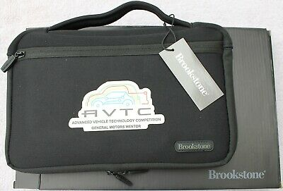 Brookstone Neoprene Cable Travel Organizer Pockets Adjust Straps Tech Trap Black
