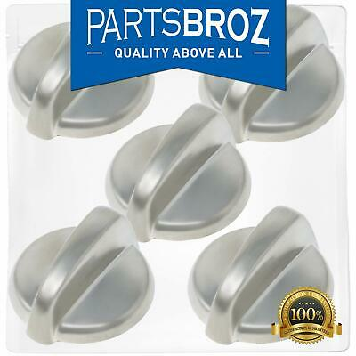 WB03T10284 Burner Control Knobs for GE Stoves, Stainless Steel Finish by Part...