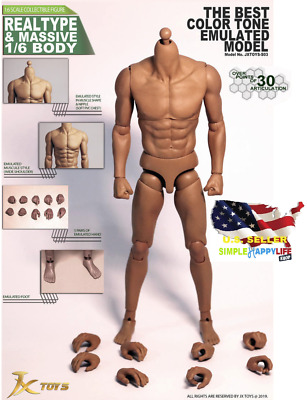 """1/6 Male muscular body JXtoys S03 Emulated strong 12"""" Figure ZC hot toys ❶USA❶"""