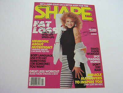 Beautiful & Sexy Virginia Madsen Authentic Autographed Shape January 1988 Cover