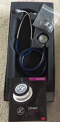 Littmann Classic iii Stethoscope - Navy Blue With Silver Finish - NEW