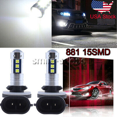 881 889 3030 15SMD LED Fog Light Bulb Conversion Kit Super Bright 6000K White US