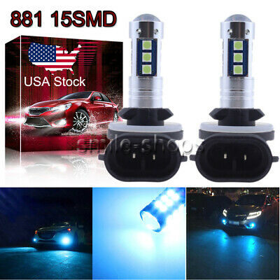 881 889 3030 15SMD LED Fog Light Conversion Kit Super Bright 8000K Ice Blue US