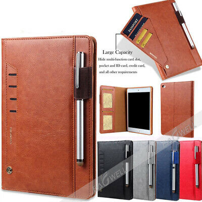 """For iPad 6th Gen 9.7"""" 2018 Smart Leather Case Wallet Card Stand Folio Cover Gift"""