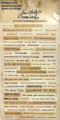 Tim Holtz Idea-Ology ~Clippings Stickers Code Th93583