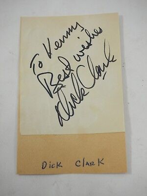 Dick Clark hand signed Authentic autograph Cut out