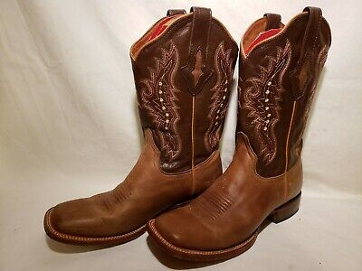 4885262b749 RESISTOL RANCH MENS Black Cherry Lizard Cowboy Boots - $80.00 | PicClick
