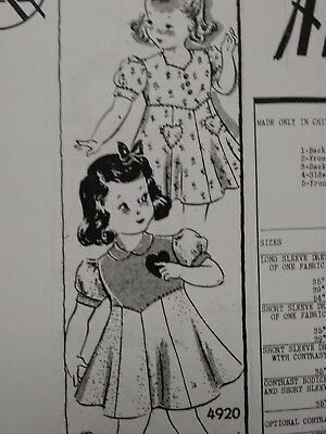 Antique Sewing Pattern-# 4920--- 1930's