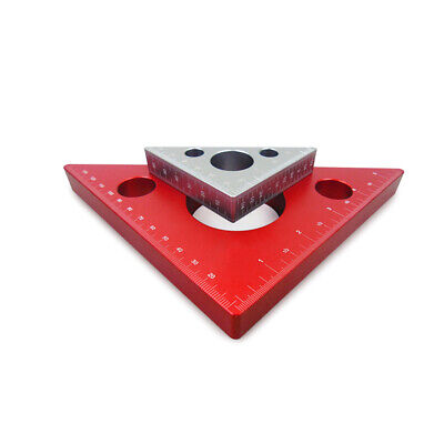 Aluminum Alloy Right Angle Ruler Mini Square DIY Woodworking Triangle Ruler