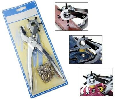 Belt Hole Puncher Tool Jeans Pants Snap Repair Device Install Eyelet Plier Tools